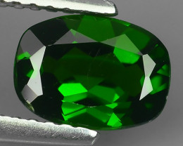 1.25  Cts MARVELOUS RARE NATURAL TOP GREEN- CHROME DIOPSIDE DAZZLING  NR!!