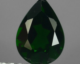 -ALLURING TOP DARK GREEN PARTY COLOR CHORME TOURMALINE PEAR CUT!!!