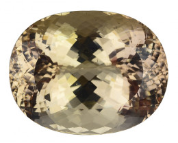 129.90 Ct Golden Topaz Pakistan Top Cutting Top Luster Gemstone. TG 04