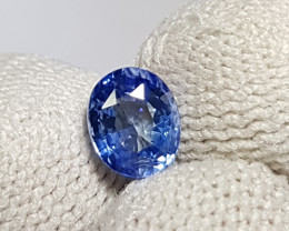 CERTIFIED 1.17 CTS NATURAL BEAUTIFUL BLUE SAPPHIRE FROM SRI LANKA