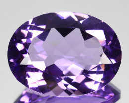 Natural Purple Amethyst Oval Checkerboard Bolivian Gem 8.20 Cts