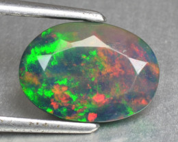 Natural Black Colorful Opal Pear Ethiopia 1.24 Cts