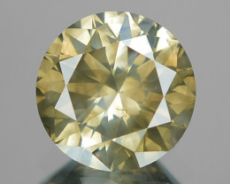 1.03 Cts UNTREATED NATURAL FANCY GRAYISH YELLOW COLOR LOOSE DIAMOND