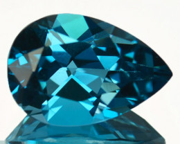 Natural London Blue Topaz Pear Cut Brazil 3.47 Cts