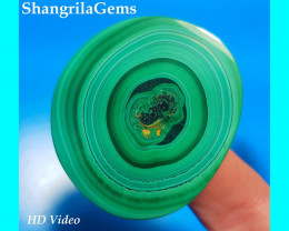 44mm Malachite with eye AAA 44 by 40 by 5mm 137ct