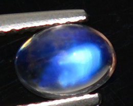 Blue Seen 0.93Ct  Natural Blue Moonstone Oval Cab