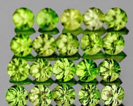 2.00 mm Round 80 pieces 2.95cts Green Peridot [VVS]