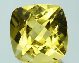 Golden Yellow 1.33Ct Natural Golden Beryl  Cushion