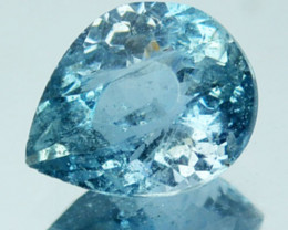 Rare Colour 1.02Ct Natural Blue Apatite Pear