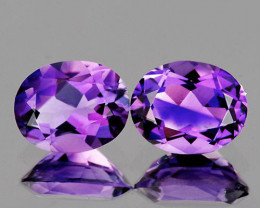 10x8 mm Oval 2 pcs Pinkish Purple Amethyst [VVS]