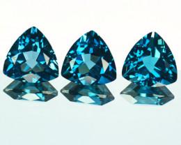 Marvelous Natural london Blue Topaz Trillion Parcel 5.38Cts