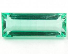 1.69 ct Natural Colombian Emerald Cut Green Gem Loose Gemstone Stone