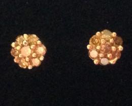 Yellow Diamond Earrings 0.20TCW.