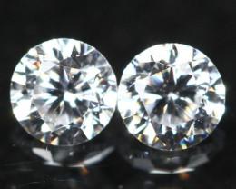 2.80mm D/E/F VVS Clarity Natural Brilliant Round Diamond Pair