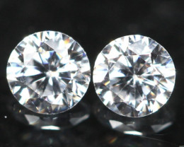 2.70mm D/E/F VVS Clarity Natural Brilliant Round Diamond Pair