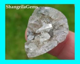 28mm Samadhi Himalayan Quartz hematite cabochon geode