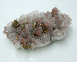 Amazing Drusy With Pyrite ,Crystal Rare Pink Stone Cluster Specimen B919
