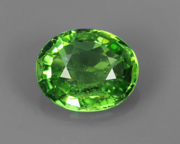 0.80 CTS NATURAL EARTH MINED RARE HUGE GREEN TSAVORITE GARNET NR!!!