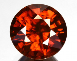Dazzling 2.40Ct Natural Imperial Orange Zircon Round 7mm Tanzania