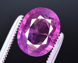 Rare 2.10 Ct Natural Corundum Pink Sapphire From Kashmir