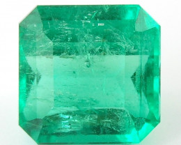 Certified 3.32 ct Natural Colombian Emerald Green Gem Loose Gemstone Stone