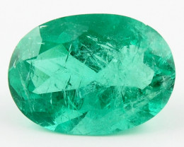 4.91 ct Natural Colombian Emerald Green Gem Loose Gemstone Stone