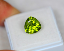 3.55ct Green Peridot Trillion Cut Lot GW3486