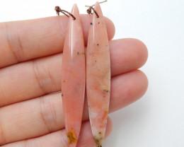 Beautiful Pink opal Long earrings beads, stone for earrings making B890