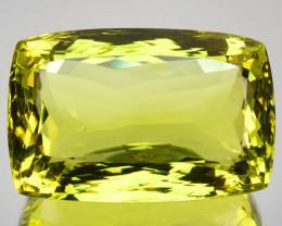 Huge! 66.34Ct Natural Lemon Green Prasiolite Cushion