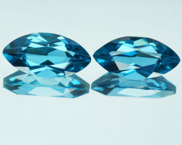 Natural London Blue Topaz Checkerboard Marquise Brazil 4.42 Cts