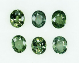 Natural Green Sapphire Oval Madagascar Parcel 3.06 Cts