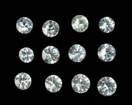 Dazzling 1.03Ct Natural White Sapphire Round Srilanka Parcel