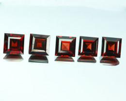 Natural Rhodolite Red Garnet Square Parcel 7.06 Cts