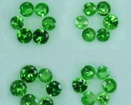 Natural Green Garnet Round Parcel Kenya 1.06 Cts