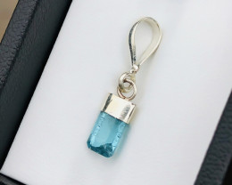 3.30 Ct Natural Blue Transparent Tourmaline Small Pendent