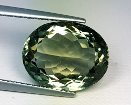 """11.95 ct """" Top Quality Gem"""" Lovely  Oval Cut Mint Green Amethyst"""