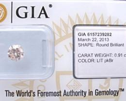0.91ct Natural Light Pink-Brown Diamond GIA certified
