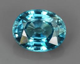 3.65 CtS ATTRACTIVE ULTRA RARE NATURAL BLUE ZIRCON EXECLLENT NR!!