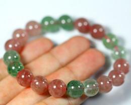 162.0Ct Natural Strawberry Quartz Bracelet