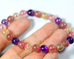 77.5Ct Natural Mix Colour Crystal Bracelet