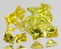 0.23 Cts Natural Diamond Golden Yellow 3Pcs Princess Cut Africa 11