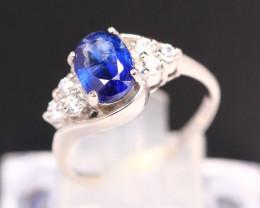Kyanite 2.78g Natural Kyanite 925 Sterling Silver Ring B0308