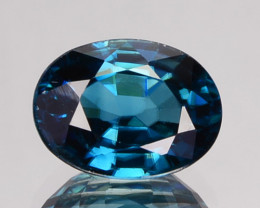 Natural Sparkling Blue Zircon Oval Cut Cambodia 1.96 Cts