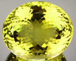 Natural Lemon Yellow Quartz Oval Cut Brazil Gem 54.33 Cts