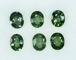 Natural Green Sapphire Oval Madagascar Parcel 3.07 Cts