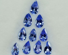 2.18Ct Natural Blue Tanzanite Pear Tanzania Parcel