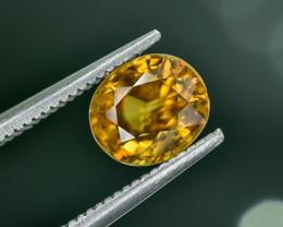 1.37 Crt Natural Sphene Faceted Gemstone.( AG 25)