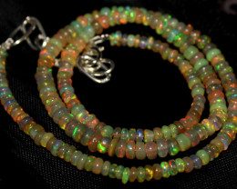 44 Crt Natural Ethiopian Welo Fire Opal Beads Necklace 1239