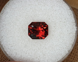 2,83ct reddish orange Pyrope Garnet - Master cut!
