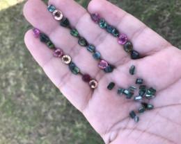 28 Carats   Mixed Color Tourmaline Gemstones Parcel